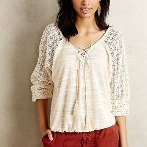 MEADOW RUE Needlework Peasant Top